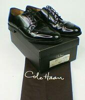 Cole Haan Calhoun Oxford Mens Size 9D Black Leather Split Toe Dress Shoe EX s7