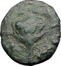 TRAGILOS in MACEDONIA 400BC Hermes Rose Authentic Ancient Greek Coin i63735
