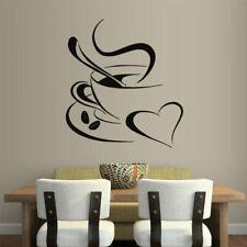 Wall Vinyl Sticker Kitchen Coffee Morning Aroma Heart Love (Z1746)