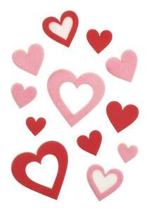 Valentine's Day Fondant Decor - Heart Cut Out Variety Shapes - Vegan 84pcs
