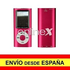 Reproductor Digital MP3/MP4 LCD Aluminio EBOOK / FM Multifunción Rosa a3091