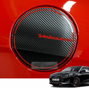 Fuel Tank Door Cap Carbon Decal Sticker Cover for HYUNDAI 2019-2020 Veloster
