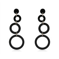 1X(Fashion Geometric Long Earring Drop Earrings Multiple Round Circle AcrylS2K8)