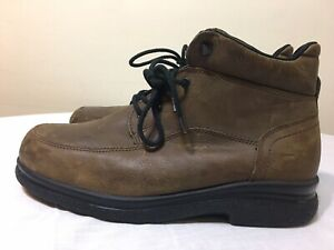 RED WING SD BROWN LEATHER 8662 LACE UP ANKLE LIGHTWEIGHT WORK BOOTS SZ 11.5 EEE