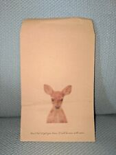 50-Pack Fawn Gift Bag Kraft Paper Party Favor Treat Bags Packaging Jewelry