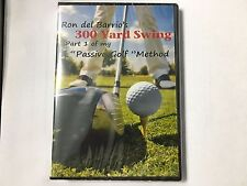 "Ron del Barrio's ""300 Yard Swing"" Complete Instructional Golf DVD BRAND NEW!!"