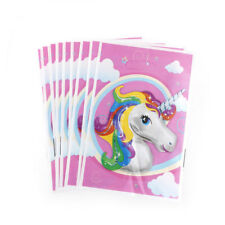 10x Unicorn Theme Party Gift Bags Candy Bag Loot Bags for Kids Birthday Decor R
