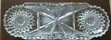 ANTIQUE ABP CUT GLASS AMERICAN BRILLIANT PERIOD CRYSTAL CELERY DISH TRAY
