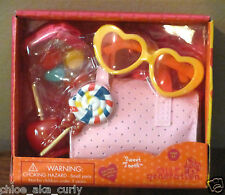 "American Our Generation 18"" Girl Doll Sweet Tooth Candy Food Purse Glasses set"