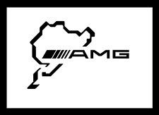2x Mercedes AMG Nürburgring Schriftzug schwarz100 x 150mm Aufkleber Sticker