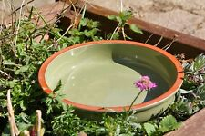 Green Ceramic Bird Bath - Green Dipper Bird Bath
