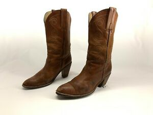 FRYE Cowboy Boots 10 B Womens Brown Leather Worn BILLY Western Rodeo Boots