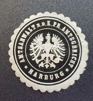 Siegelmarke Vignette Amtsanwalt b.d. K. Pr. Amtsgericht Harburg (8058-2)