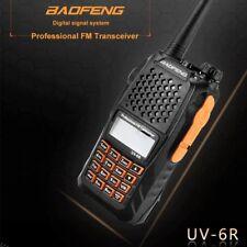 1x Baofeng UV-6R Mano Walkie Talkie VHF UHF FMR Radio FM Transceptor Auricular