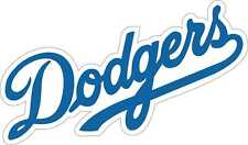 "Los Angeles Dodgers MLB Baseball sticker wall decor large vinyl decal, 12""x 7"""