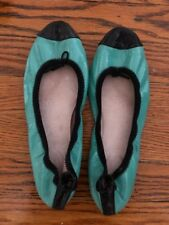 *DESIGNER* BLOCH turquoise patent leather flats