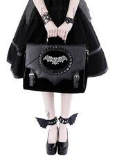 Velvet goth bat wing messenger briefcase purse bag NWT