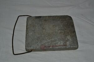 Antique Foot Warmer Stone with Metal Hanger Carriage Buggy Sleigh Bed