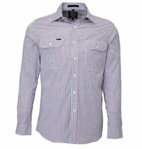 Ritemate Men's L/S, Double Pockets Classic Check Design Casual Shirt