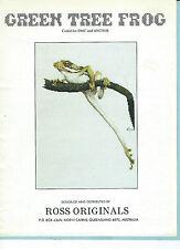"""Green Tree Frog"" Ross Originals chart leaflet GRAEME ROSS art ©1993 AUS OOP/NLA"