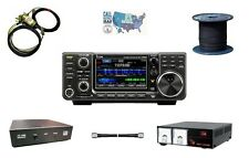 Icom IC-7300 100W HF Touch Screen Transceiver Get On The Air HAM Radio Bundle!