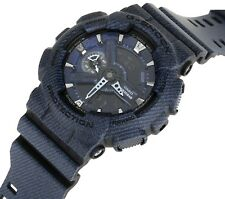Casio G-Shock GA-110DC-1AER Dark Blue Denim Design Motif Jeans Style Watch