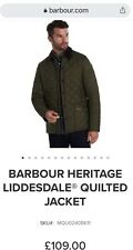 Mens Barbour Liddesdale Heritage Olive Green jacket  (Diamond Quilted) XXL