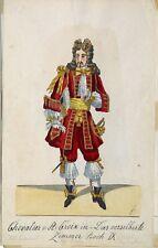 Chevalier V. st. Croix el plateadas habitación ópera Teatro Degen peluca terciopelo