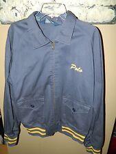Vintage Mens Ralph Lauren Polo Varsity Full Zip Jacket Blue SZ L EUC!