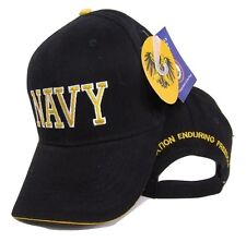 US NAVY Black and Gold 3D Letters Baseball Ball Hat Cap
