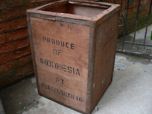 Vintage Tea Chest Trunk Box Crate Storage Side Table Bed Side upcycling