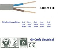 6.0 mm Twin and Earth T&E Electric Cable Wire | 6242Y | Various lengths | BASEC