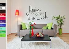HOME IS WHERE MY CAT IS - Wandtatoo - Aufkleber Katze Dekoration Geschenk