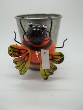 """New listing Orange Lady Bug Metal Flower Pot Hanger Yard Garden Outdoor Indoor 2.5""""h #38"""
