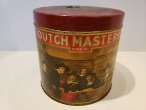 Vintage Dutch Masters Special Round Cigar Tin Factory No. 6
