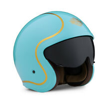 Harley Davidson Bougie Sun Shield 3/4 Turquoise Gloss Helmet, 98175-20EX, Large
