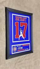 Chicago Cubs Kris Bryant 8x10 Framed Jersey Photo