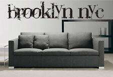 "Vinyl Wall Decal Sticker Brooklyn NYC Large 72""x15"""