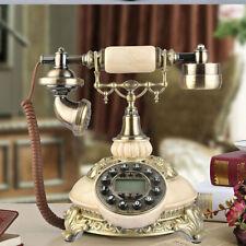 Vintage Antique Desk Resin Telephone European Style Bronze Retro Rotary Handset