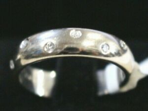 Canturi 18k White Gold & 7 Diamonds Ring- Very Good Condition & Authentic