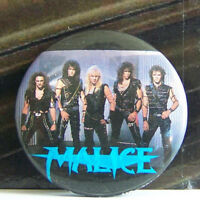Rare Vintage Pin Metal Pinback Rock Hair Metal Band Group Shot Big Hair Men