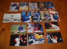 '98 MLB PINNACLE TEAM SNAPSHOTS 16 PICS SOME DOUBLE TEXAS RANGERS