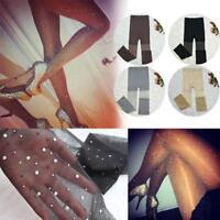 Women Stretchy Bling Crystal Rhinestone Pantyhose Tight Stocking Dance Stocking