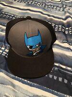 NEW  Six Flags Black Grey Batman Baseball Cap Snapback