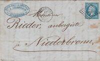 FRANCE 20 cent 18?8 sur lettre avec texte de Strasbourg - Lettera con testo