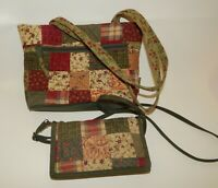 Longaberger Shoulder Tote & Crossbody Hand Bags - Country Patchwork Quilt
