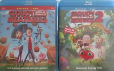 CLOUDY WITH MEATBALLS 1-2: Animated Adventure- Great Family Fun- NEW 2 BLU RAY