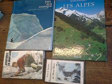Lot de 4 livres : les alpes - Joies de la montagnes -15 aventures en montagne