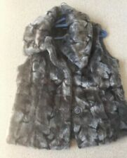 M&S Grey Mix Faux Fur Gilet Size 14