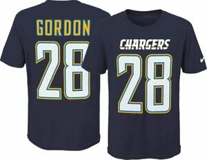 Nike Melvin Gordon Los Angeles Chargers Youth Boys Name & Number Player T-Shirt